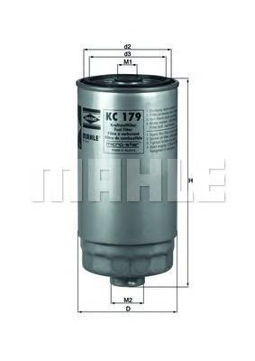 Фильтр топливный Mahle KC179KC179