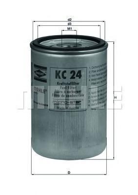 Фильтр топливный Mahle KC24KC24