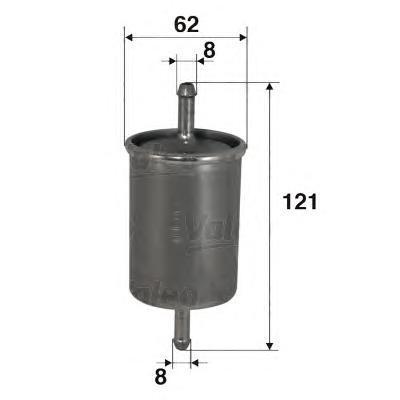 Фильтр топливный Valeo 587012587012