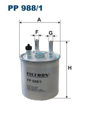 Фильтр топливный Filtron PP988/1PP988/1