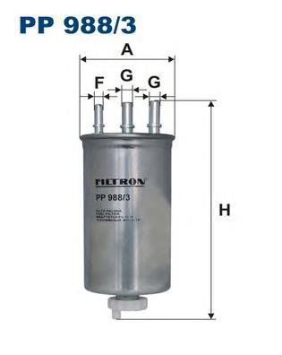 Фильтр топливный Filtron PP988/3PP988/3
