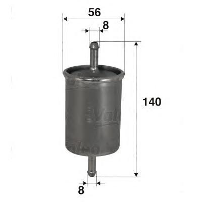 Фильтр топливный Valeo 587003587003