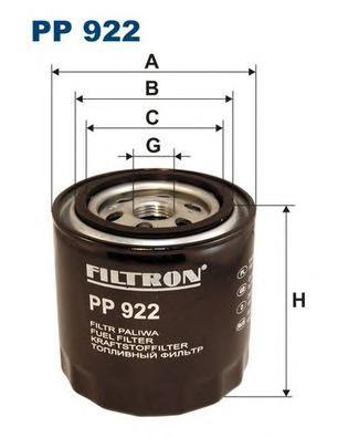Фильтр топливный Filtron. PP922PP922