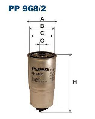 все цены на Фильтр топливный Filtron PP968/2 онлайн