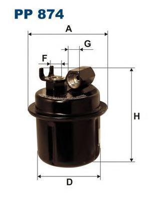 Фильтр топливный Filtron PP874PP874