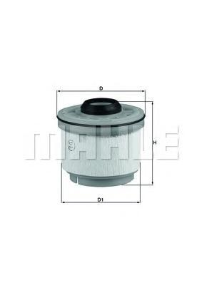 Фильтр топливный Mahle KX268DKX268D