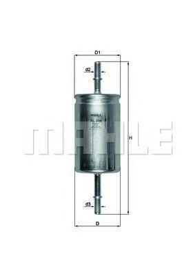 Фильтр топливный Mahle KL559KL559