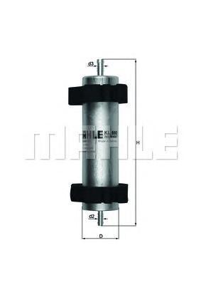 Фильтр топливный Mahle KL660KL660