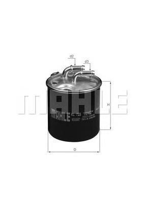 Фильтр топливный Mahle KL723DKL723D