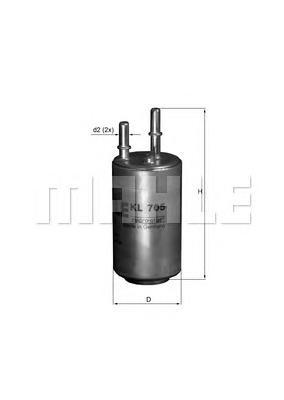 Фильтр топливный Mahle KL705KL705