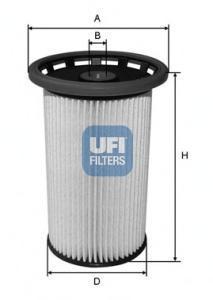 Фильтр топливный дизель UFI 26.026.0026.026.00