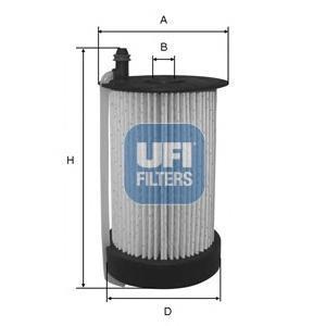 Фильтр топливный дизель UFI 26.031.0026.031.00