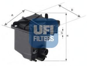 Фильтр топливный дизель UFI 24.027.0024.027.00