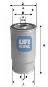 Фильтр топливный дизель UFI 24.379.0024.379.00