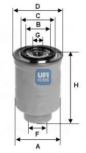 Фильтр топливный дизель UFI 24.443.0024.443.00