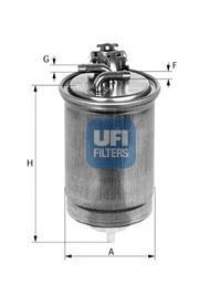 Фильтр топливный дизель UFI 24.424.0024.424.00