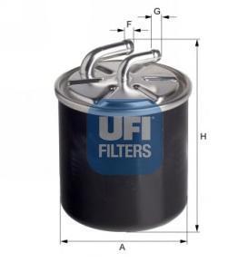 Фильтр топливный дизель UFI 24.436.0024.436.00