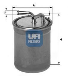 Фильтр топливный дизель UFI 24.437.00 топливный фильтр рено лагуна 3 дизель