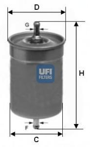 Фильтр топливный бензин UFI 31.500.0031.500.00