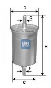 Фильтр топливный бензин UFI 31.718.0031.718.00