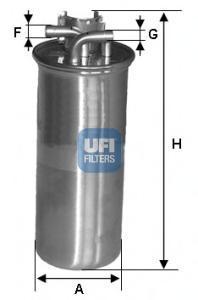 Фильтр топливный дизель UFI 24.001.0024.001.00