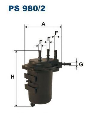 цена на Фильтр топливный Filtron PS980/2