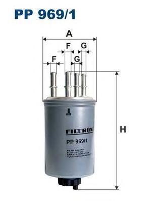 Фильтр топливный Filtron PP969/1PP969/1