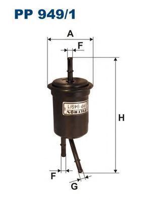 Фильтр топливный Filtron PP949/1PP949/1