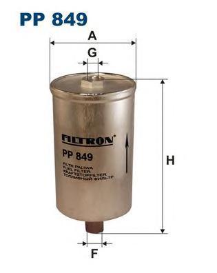 Фильтр топливный Filtron PP849PP849