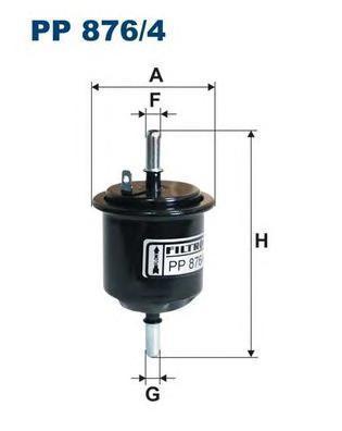 Фильтр топливный Filtron PP876/4PP876/4