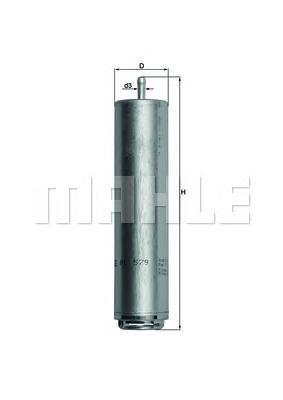 Фильтр топливный Mahle KL579DKL579D