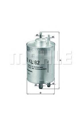 Фильтр топливный Mahle KL82KL82