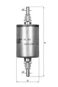 Фильтр топливный Mahle KL83KL83