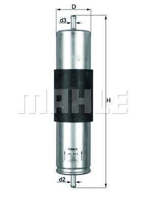 Фильтр топливный Mahle KL473KL473
