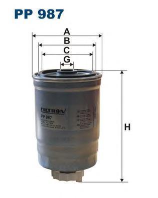 Фильтр топливный Filtron PP987PP987