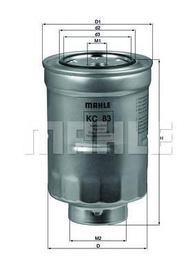 Фильтр топливный Mahle KC83DKC83D