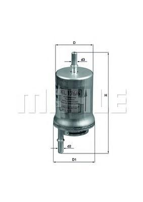 Фильтр топливный Mahle KL176/6DKL176/6D