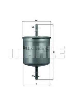 Фильтр топливный Mahle KL196KL196