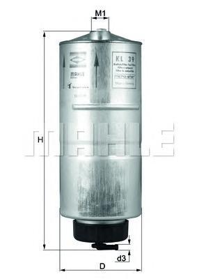 Фильтр топливный Mahle KL39KL39