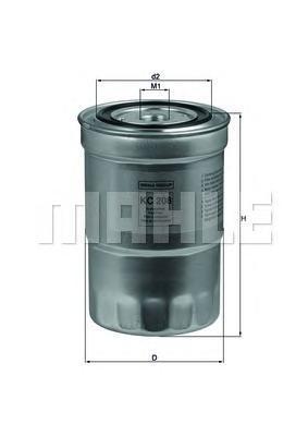 Фильтр топливный Mahle KC208KC208
