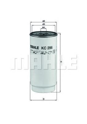 Фильтр топливный Mahle KC296DKC296D