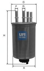 Фильтр топливный дизель UFI 24.459.0024.459.00