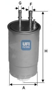 Фильтр топливный дизель UFI 24.ONE.0124.ONE.01