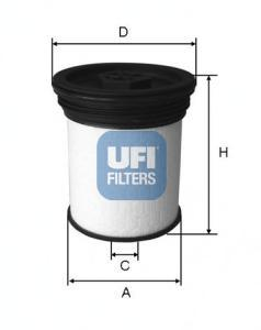 Фильтр топливный дизель UFI 26.019.0126.019.01