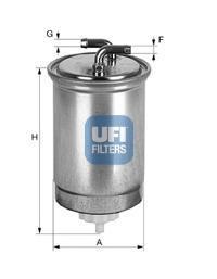Фильтр топливный дизель UFI 24.365.0024.365.00
