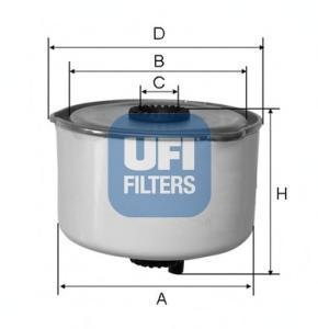 Фильтр топливный дизель UFI 24.454.0024.454.00