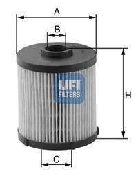 Фильтр топливный дизель UFI 26.021.0026.021.00
