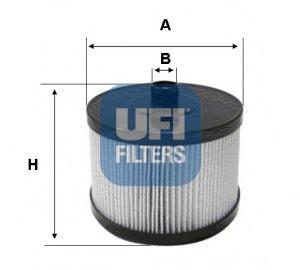 Фильтр топливный дизель UFI 26.022.0026.022.00