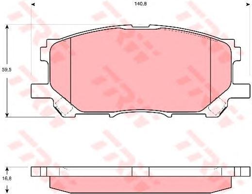 Колодки тормозные дисковые TRW/Lucas GDB3397GDB3397