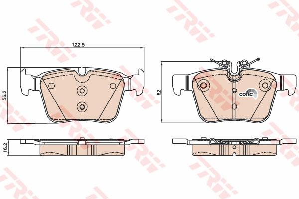Колодки тормозные задние TRW/Lucas GDB2071GDB2071
